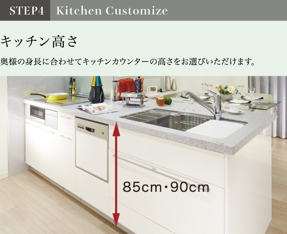 STEP4 Kitchen Customize キッチン高さ